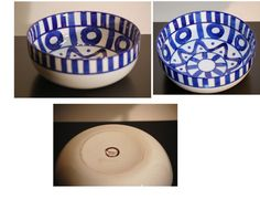 Dansk Arabesque Blue and White Large Serve Bowl
