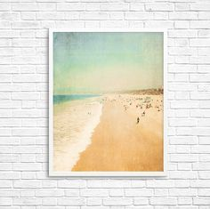 California Photography, Santa Monica, Travel, Beach Photo, Sand, Ocean, Summer, Retro California, Wall Decor - In the Land of LA