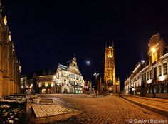 The Theater and Sint-Baafskathedraal, Gent , Belgium Ghent Belgium, Gaston, Explore, Mansions, House Styles, Theater, Snow, Holland, Countries Of The World