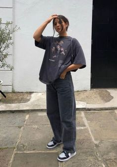 Indie Outfits, Teen Fashion Outfits, Retro Outfits, Swaggy Outfits, Cute Casual Outfits, Tomboy Fashion, Streetwear Fashion, Looks Pinterest, Mode Ootd