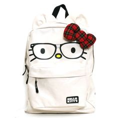 Hello Kitty Nerd Plaid Backpack- if I had a little girl going back to school this would be her backpack!