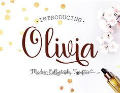 """Check out new work on my @Behance portfolio: """"Olivia Script Font"""" http://be.net/gallery/51644907/Olivia-Script-Font"""