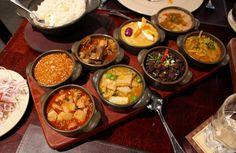 Peru's greatest hits of traditional food, including aji de gallina, cau cau, and carapulcra. Panchita, Lima.