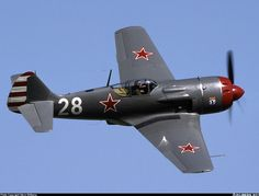 Lavochkin La-9 ,powerful russian WW2 figther.The cowl bulges cover the four canons breeches, two each side of cowling.