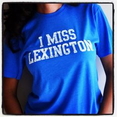 You need this, @ELLE Magazine (US) Hittson  I MISS LEXINGTON Kentucky Wildcats by IMISSMYCOLLEGE on Etsy, $25.00