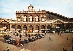 Bienvenue devant la Gare Lille Flandres en 1954 ! Bon voyage !
