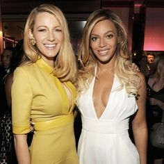 Beyonce and Blake Lively, showing us how it's done. // #celebritystyle