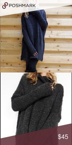 """Black oversized sweater S Bust 26.5"""" length 29.5"""".                                           M Bust 27.2"""" length 30""""                                           L Bust 48"""" length 30.3""""                                           XL Bust 48.4"""" length 30.7""""                              *******there is a hole on the sleeve for thumb. Sweaters Crew & Scoop Necks"""