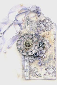 Scraps of Elegance: Tags featuring Blue Fern Studios Chipboard