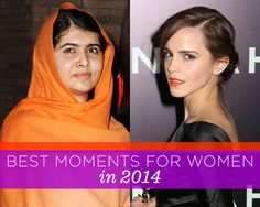 16 Times We Were Proud to Be Women in 2014  http://www.womenshealthmag.com/life/best-moments-for-women-2014