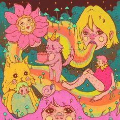 Aubii ☁️ on Instagra Kunst Inspo, Art Inspo, Pretty Art, Cute Art, Art Sketches, Art Drawings, Hippie Art, Art Hoe, Wow Art