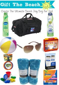 Father's Day Idea: Beach Day + Ultimate Dad Beach Bag