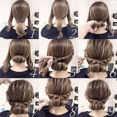 Easy twist and plait hairstyle
