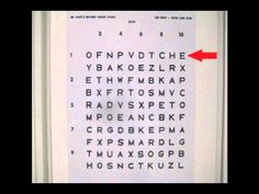 Distance/Near Hart Chart Optometric Vision Therapy Procedure - YouTube