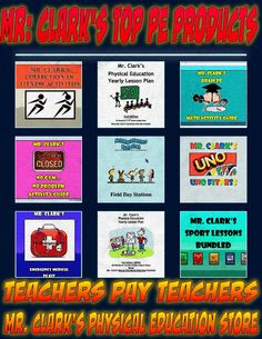 Mr. Clark's Physical Education TPT Top Products!