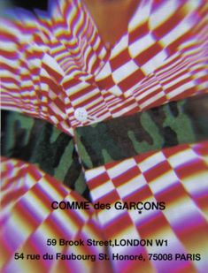 Comme des Garcons. Probably early 90s