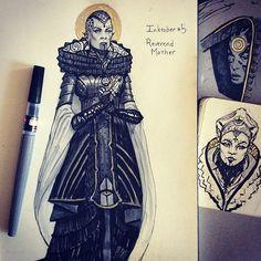 Reverend Mother of the Bene Gesserit. Dune sci-fi concept artwork illustration by Tom Kraky.