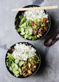 Easy & Simple Ahi Tuna Poke Bowls – Milk and Eggs