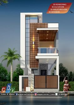 House Elevation, Front Elevation, Bungalow House Design, Jeep Cars, Home D, Facade House, Exterior Design, Modern Architecture, Building