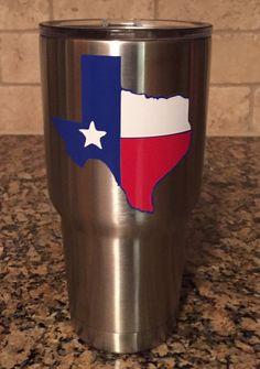 Texas Flag Yeti by BurlapPillowsEtc on Etsy