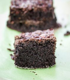 Olive oil brownies with nibs! So glad to see recipes using nibs~ more chocolate taste.