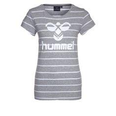CLASSIC BEE  - T-Shirt print - grey melange by Hummel
