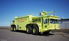Oshkosh P-15 Crash Truck.... The biggest and most awesome crash truck they ever made. Dual detroits too