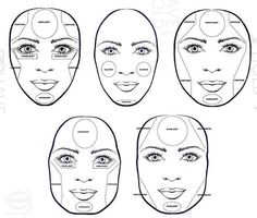 Contouring for all face types. Look at your face, and try to see where it needs light, an where it needs dimension. Someone with a long face will shade more on the upper and longer part of the face to create an illusion of rounder face. For saar faces, put shader especially on the jawbone to make it look rounder.