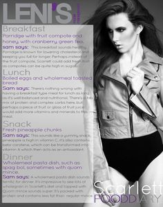 Leni's Model Management Food Diaries: SCARLETT Breakfast Porridge, Fruit Compote, London Models, Model Diet, Lower Cholesterol, Food Diary, Fresh Fruit, Diaries, Insight