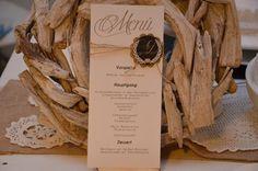 Menükarte Menü Hochzeit Vintage inkl. Druck von Majalino auf DaWanda.com