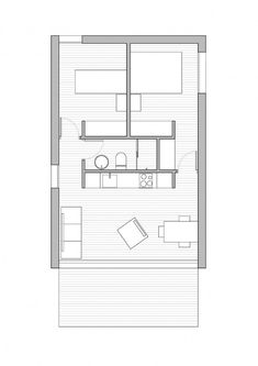 Denah Rumah 790592909574618242 - Source by The Plan, How To Plan, Shed Design, Tiny House Design, Small House Plans, House Floor Plans, Planer Layout, Backyard Cottage, Shed Homes