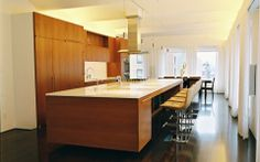 Amazing-Modern-Loft-Design-with-white-wall-and-wooden-kitchen-island-sink-oven-stove-cabinet-storage-stool-hook-window-curtain-and-chair-and...