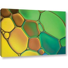 ArtWall Cora Niele Stained Glass Iii Gallery-Wrapped Canvas, Size: 24 x 36, Orange