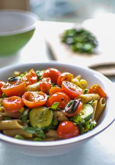 On Summer Pasta Salad and on Why you Should Not Rinse Pasta with Cold Water
