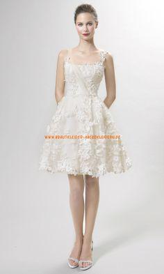 A-linie Schönste Brautkleider 2014 aus Organza mit Applikation