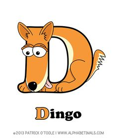 Dingo - Alphabetimals make learning the ABC's easier and more fun! http://www.alphabetimals.com