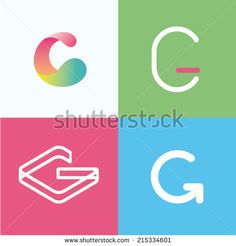 Vector illustration letter g set