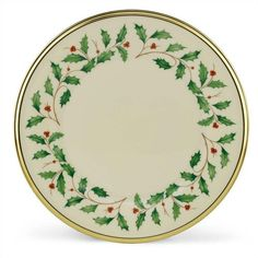 "Holiday 8"" Salad Plate"