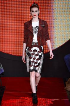 Holly Fulton Fall 2013 RTW- So gorgeous! Love the edgy, rock and roll vibe! And the geometric prints are amazing!