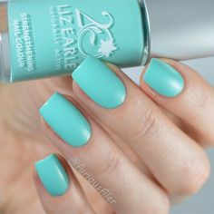 On the blog: A swatch and review of this beauty by @lizearlebeautyco .I've had this polish for so long just sitting on the shelf! The application and formula is just fab but let's talk about the colour. The polish is called 'Signature Blue'....but is it blue? Or more like a green? Or a turquoise? I am so confused it's probably a good thing I'm getting my eyes tested tomorrow! . More pictures and a nail art as always on my blog (link in bio) xx #nails #nailart #notd #nailssart #nailitdaily…