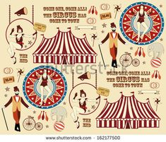 Pattern of the circus - stock photo