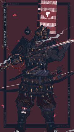 'The Dragon of the Myre' Poster by titletownrelo Arte Ninja, Ninja Art, Fantasy Character Design, Character Art, Samurai Wallpaper, Samurai Artwork, Art Asiatique, Samurai Tattoo, Art Japonais