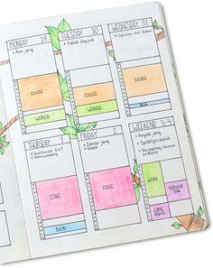 Weekly Spread met Time Tracker van Planning Routine