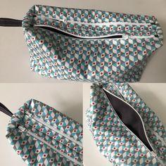 Trousse zip-zip cousue par Sandrine - tissu trimix - Patron trousse double Sacôtin