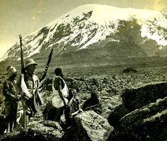 1909 - Peter MacQueen and Mount Kilimanjaro © RGS-IBG