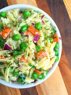 Orzo Salad with Yogurt-Dill Vinaigrette - The Lemon Bowl
