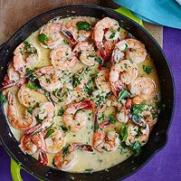 Lemon Cream Shrimp Scampi - Rachael Ray Mag. Tried this tonight and this was an absolutely delicious, quick, and easy meal! Great with Quinoa and broccoli.
