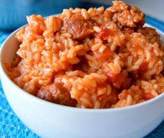 C'est une idée repas super facile à préparer... on place tout dans la même casserole et on laisse la magie du goût savoureux opérer... Rice Recipes, Pork Recipes, Cooking Recipes, Healthy Recipes, Recipies, One Pot Jambalaya Recipe, Jumbalaya Recipe, Good Food, Yummy Food