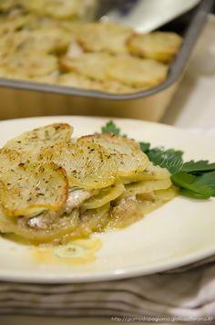 tortino di patate e sarde