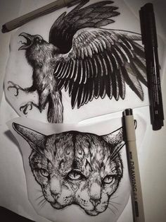 origamirabbit: Sketches and finished works Robert A Borbas,... - http://www.hunkiez.com/uncategorized/origamirabbitsketches-and-finished-worksrobert-a-borbas